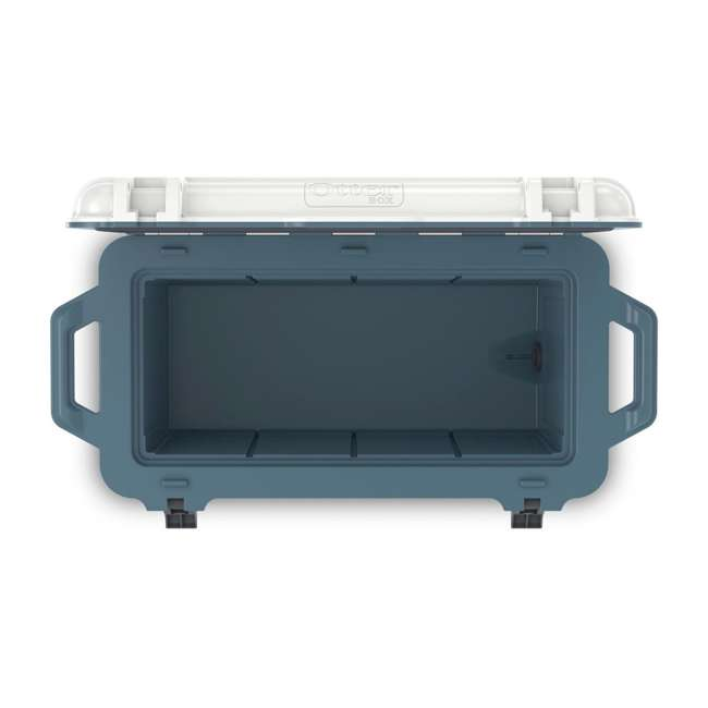 77-54868 Otterbox Venture Heavy Duty Outdoor Camping Fishing Cooler 65-Quarts, White/Blue 5