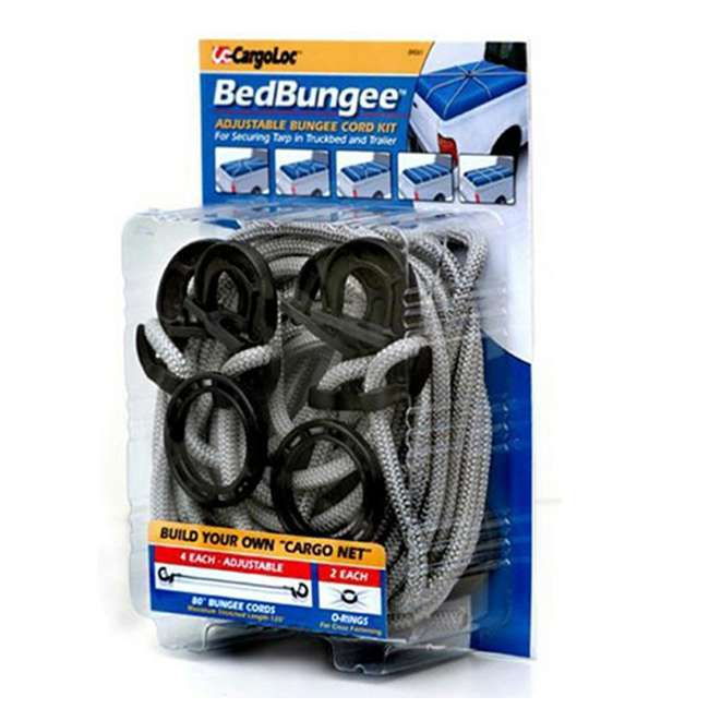 84061 CargoLoc 84061 BedBungee Adjustable 80 Inch Bungee Cord Kit w/ O Rings (4 Pack)