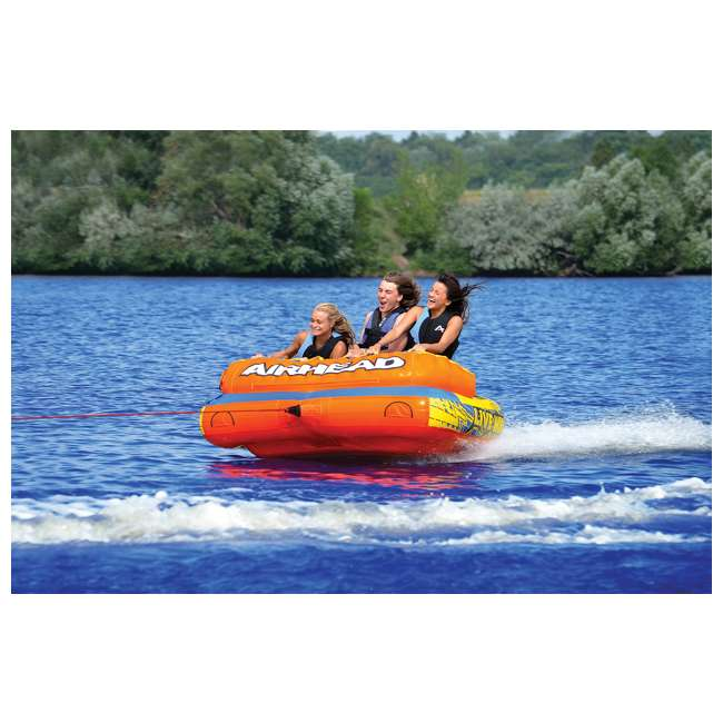 AHLW-3-U-A AIRHEAD Live Wire 3 Inflatable 1-3 Rider Boat Towable Lake Water Tube (Open Box) 2