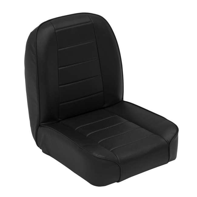 44801-SMITTYBILT Smittybilt Front Stationary Low Back Bucket Seat, Black