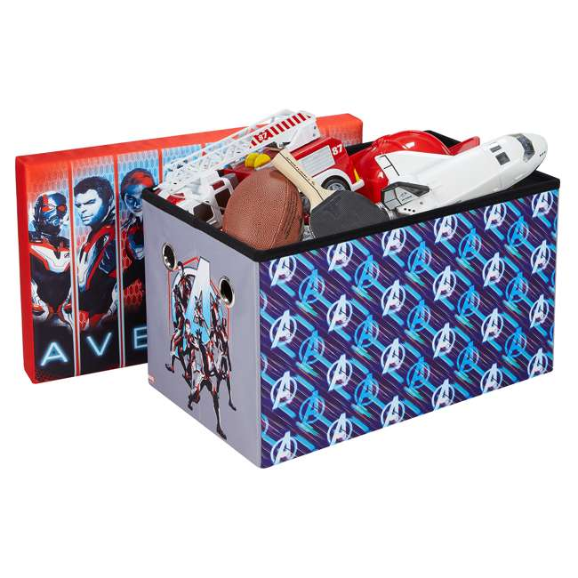 520023-006 Fresh Home Elements 24-Inch Portable Toy Chest & Storage Bench, Marvel Avengers 2