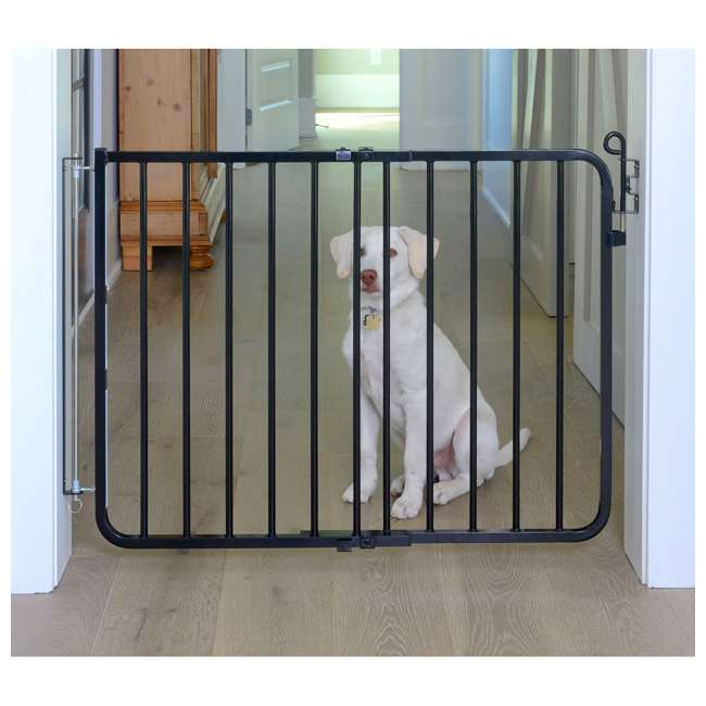 Cardinal Gates 29 5 Inch Adjustable Indoor Gate Black