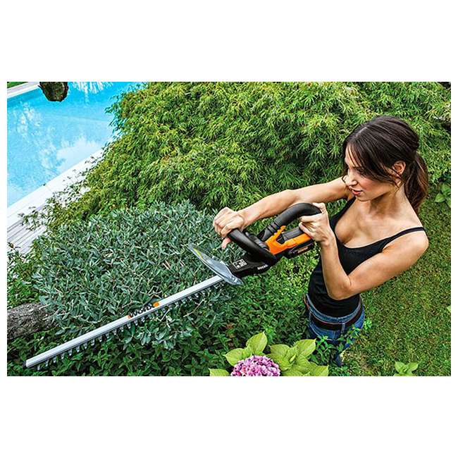 WG255.9 Worx 20-Inch 20V Dual Edge Electric Cordless Hedge Trimmer (Tool Only) 4