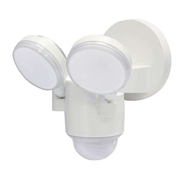 LP-1803-WH-C IQ America LP-1803-WH Twin Wall Mounted Motion Sensing LED Flood Light, White (2 Pack) 1