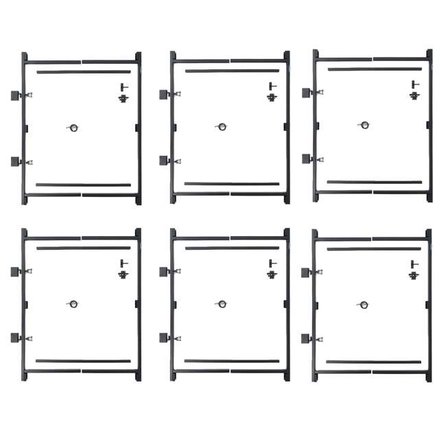 """6 x AG36-3 Adjust-A-Gate Steel Frame Gate Kit, 36""""-60"""" Wide Opening Up To 7' High (6 Pack)"""