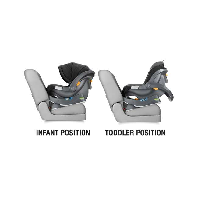 CHI-0407977128 Chicco Fit2 Infant/Toddler Rear Facing Car Seat w/ 2 Stage Base, Tullio Blue 1