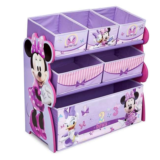TB84848MN-999 Delta Children Minnie Mouse Wooden Multi Bin Toy Organizer, Pink (2 Pack) 1