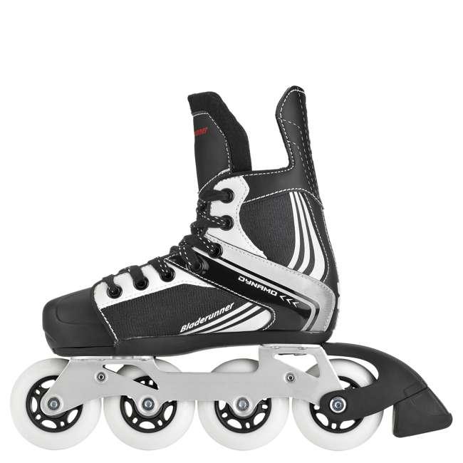 0T200100741-M Rollerblade Bladerunner Dynamo Youth Adjustable Inline Skate, Medium, Black 1
