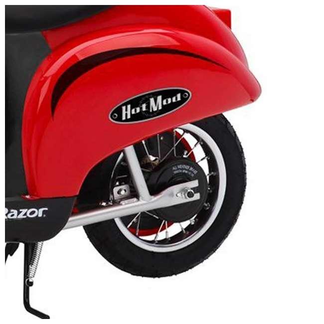 15130656 + 97780 Razor Pocket Mod Miniature Kids Electric Motor Scooter & Helmet  6