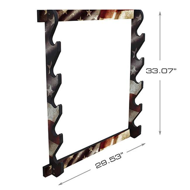 38-4046 Rush Creek Creations 38-4040 American Cherry Wooden 3 Gun Mounted Wall Rack
