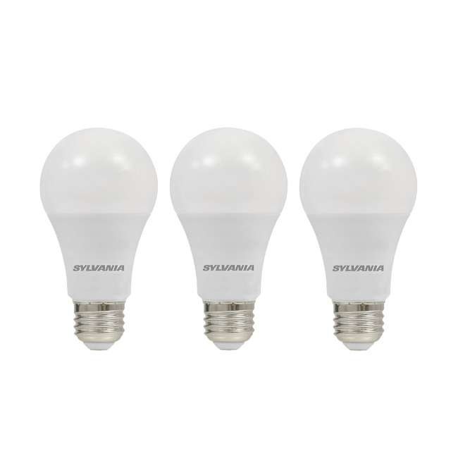 3 x SYL-74426 SYLVANIA Ultra 75W Equivalent 12W Dimmable A19 LED Bulb, Bright White (3 Pack)