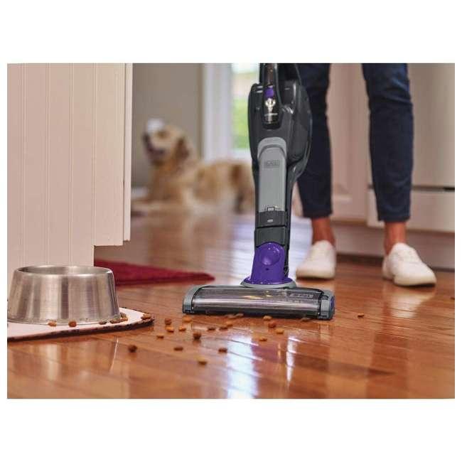 HSVJ415JMPA07 Black And Decker SmarTech 20-Volt 2-In-1 Cordless Pet Hair Vacuum 3
