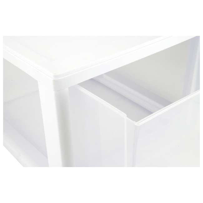 20 x 23108004 Sterilite 2310 27-Quart Single Stacking Drawer - Clear (20 Pack) 6