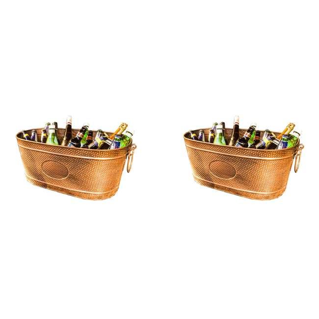 3 x 19088x3 BREKX Copper Finish Hammered Creighton Pebbled Ice Bucket (3 Pack)
