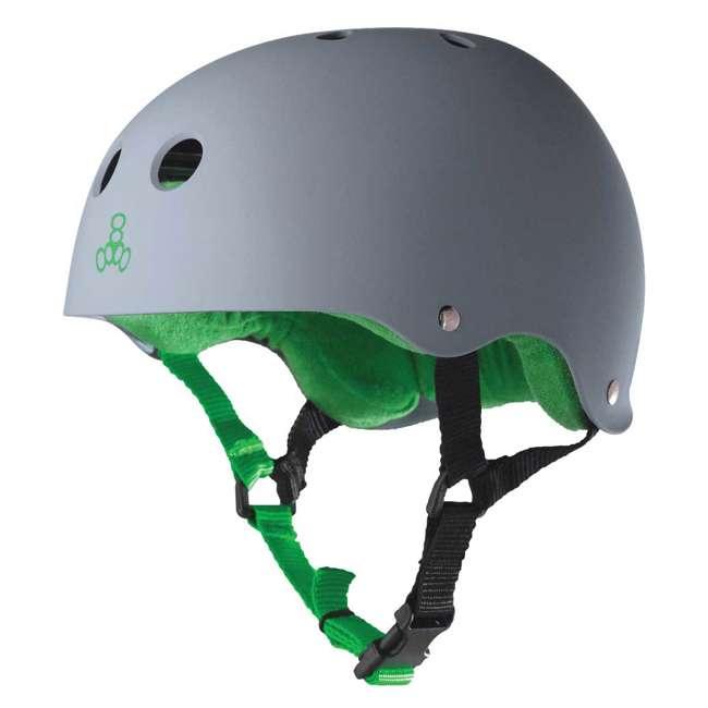 12 x T8-1077 Triple 8 Hardened Skate Helmet with Sweatsaver Liner, Carbon - Medium (12 Pack) 1