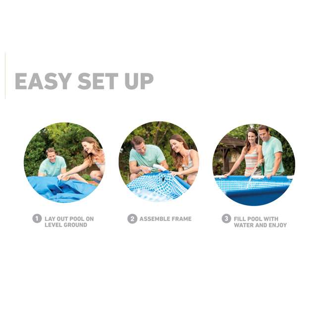 28211EH Intex 12 x 2.5 Foot Metal Frame Above Ground Pool and Filter  6