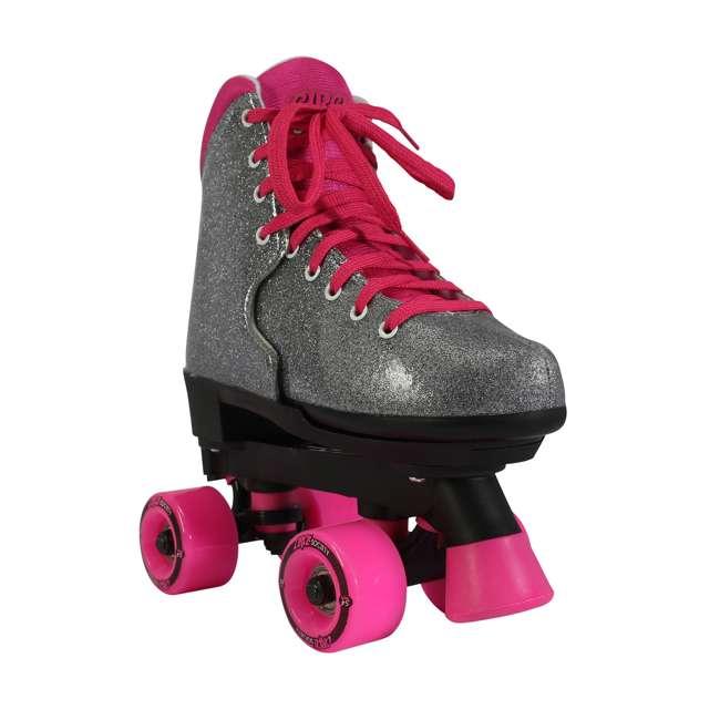 168222 Circle Society Bling Sizzling Pink Kids Skates, Sizes 3 to 7 1