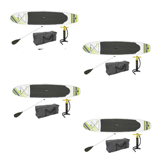 """4 x 15477-BW Bestway Inflatable Hydro Force Wave Edge 122"""" x 27"""" Standup Paddle Board, 4 Pack"""