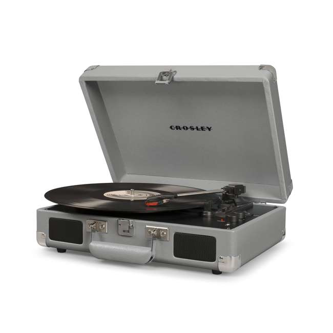 CR8005D-CG-U-C Crosley Cruiser Deluxe Bluetooth Enabled 3 Speed Turntable (For Parts) 1