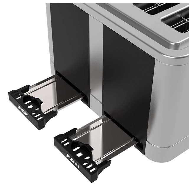 VRM010108N Vremi VRM010108N Retro Stainless Steel Countertop Wide Slot 4 Slice Toaster 4