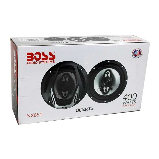 NX654 Boss NX654 6.5-Inch 400W 4-Way Speakers (Pair) 7
