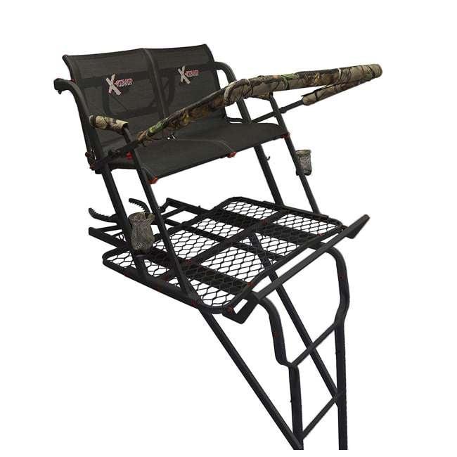 XSLS675 X-Stand XSLS675 The Talon 22 Foot Tall Two Person Hunting Ladder Tree Stand