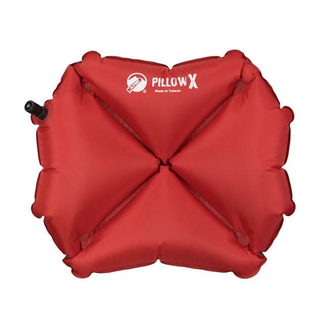 12PXRD01C Klymit Pillow X Soft Inflatable Camping Pillow, Red 1