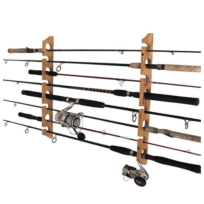 38-3020 Rush Creek Creations Barn Wood 2 Piece 11 Rod Wall & Ceiling Rack, Wood Grain