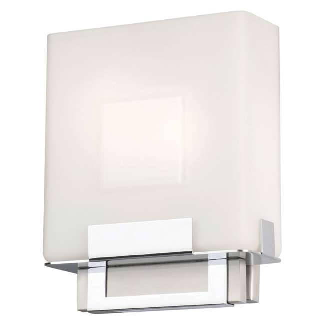 PLC-F544336E1 Phillips Forecast Square Bathroom Light, Satin Nickel (2 Pack) 4