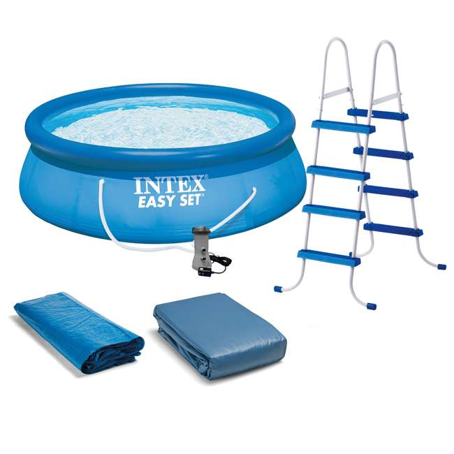 "26167EH Intex 15' x 48"" Inflatable Easy Set Above Ground Swimming Pool"