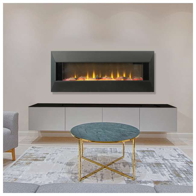 HW93233SMQR Lifesmart HW93233SMQR 42 Inch Infrared Wall Mount Electric Fireplace, Black 4