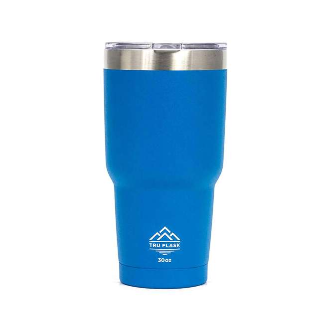 TF30-BLUE TruFlask Insulated 30 OZ Stainless Steel Travel Tumbler, Blue