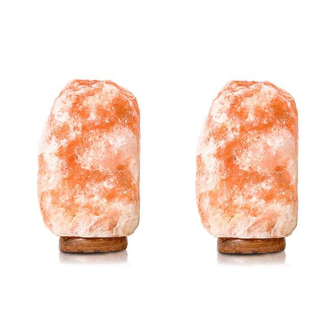 Heart of Himalayan Salt Lamp Salacia Heart of the Himalayan Electric Salt Lamp Light w/ Dimmer, Pink (2 Pack)