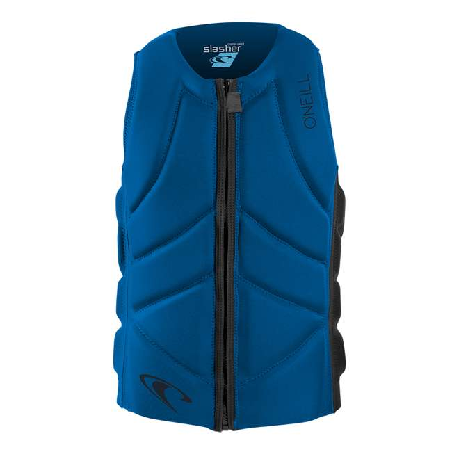 4917-ER9-M O'Neill Blue Slasher Competition Foam Waterskiing and Wakeboarding Vest, Medium