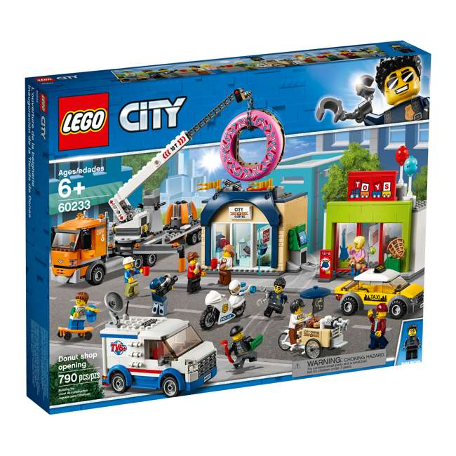 6251763 LEGO City 60233 Donut Shop Opening Town Playset Toy 790 Piece Block Building Set 4