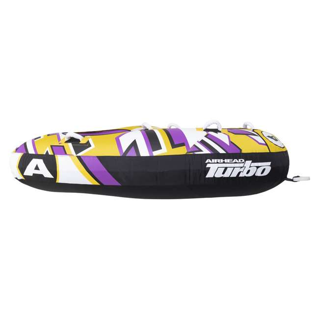 "AHTB-13 Airhead Turbo Blast 3 Person 81"" x 107"" Inflatable Boat Towable Water Inner Tube 5"