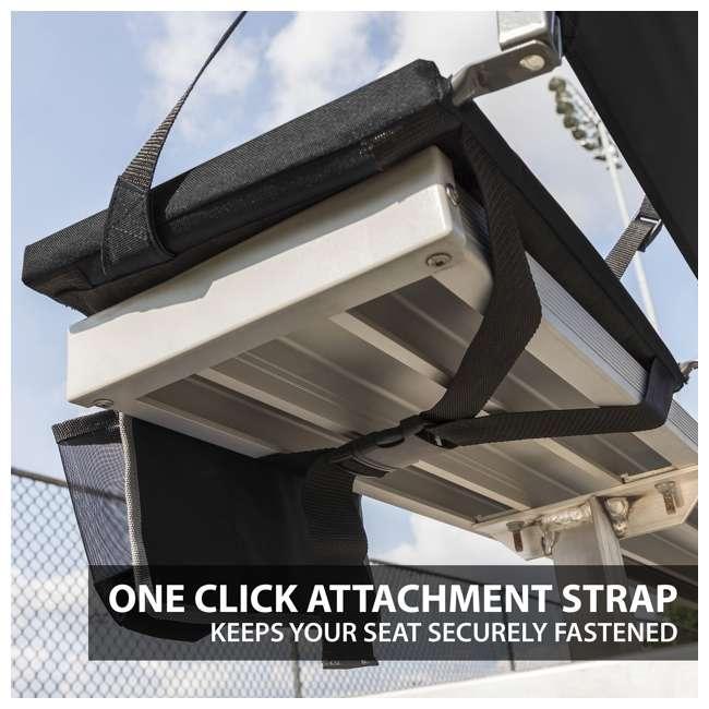 1-1-58810-DS Eastpoint Sports Adjustable Backrest Seat, Black (2 Pack) 6