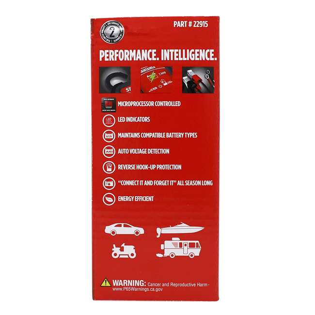 22402 + 22915 STA-BIL Engine Oil Stabilizer + 2 Amp Battery Maintainer 7
