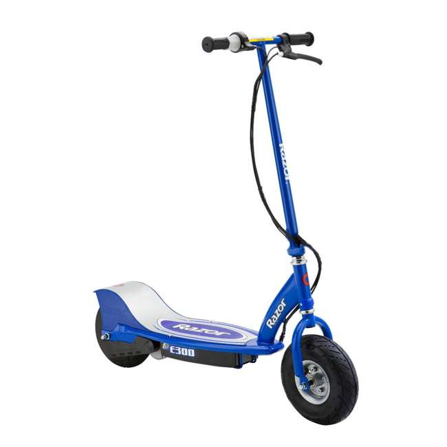 13113640 + 97778 Razor E300 Electric Scooter (Blue) & Youth Helmet (Black) 1