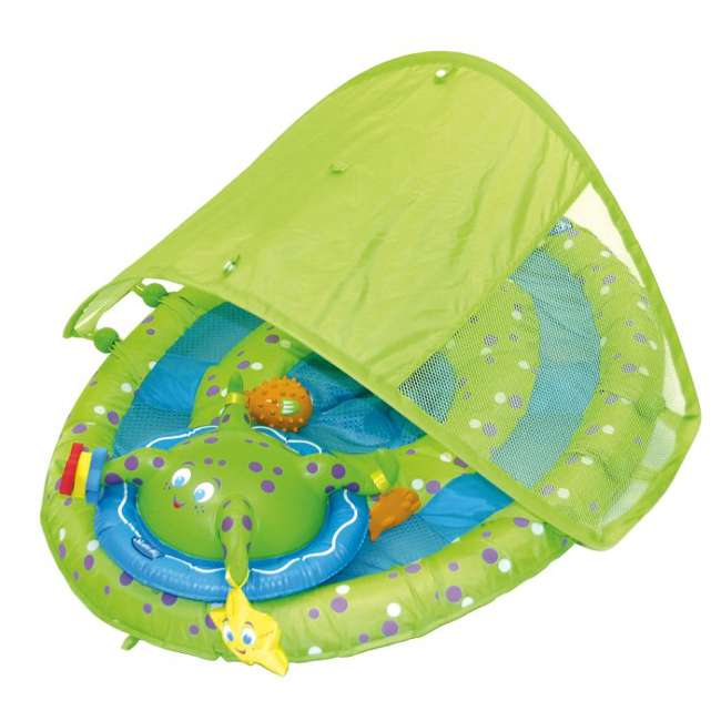 6 x 11601 SwimWays Baby Spring Float Activity Center with Sun Canopy | 11601 (6 Pack) 3
