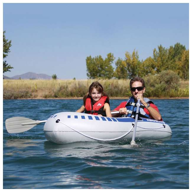 AHIB-2 Airhead 2-Person Lake River Pond Fishing Inflatable Boat | AHIB-2 (2 Pack) 2