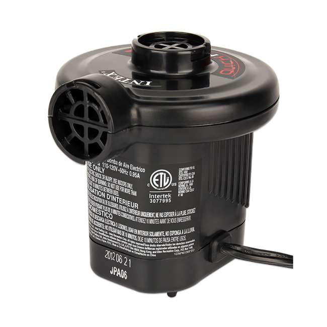 66619E Intex 120V Quick Fill AC Electric Air Pump with 3 Nozzles 2