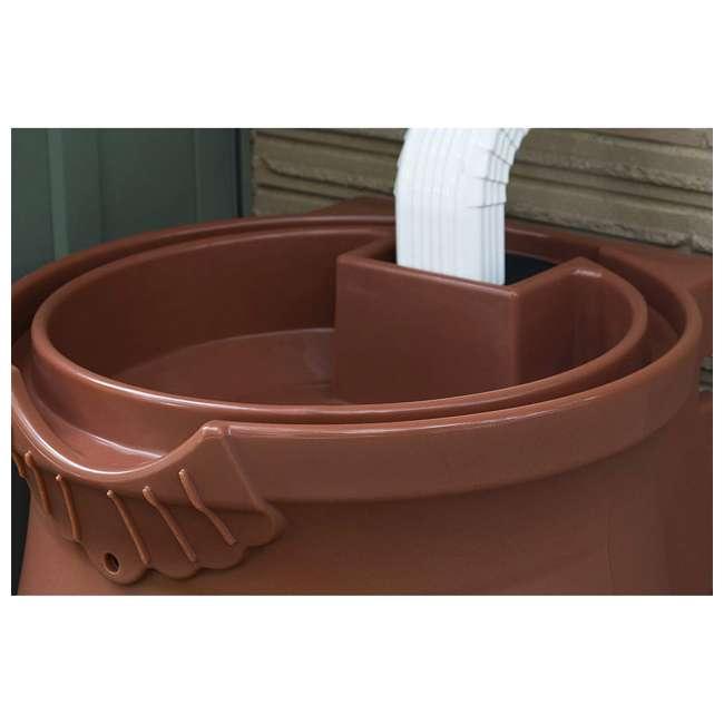 RWURN50-TC Good Ideas Rain Wizard Barrel Urn 50 Gallons, Terra Cotta 4