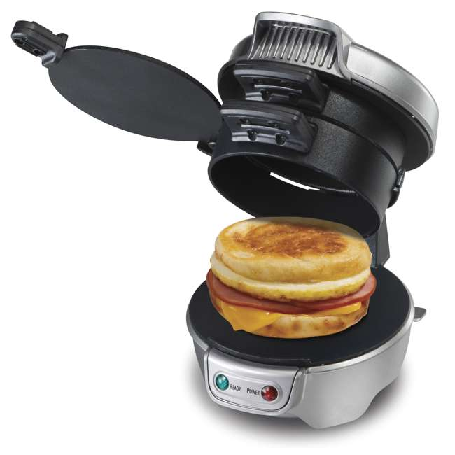 49976 + 25475 + BKFSTMKR100 Hamilton Coffee Maker w/ Press Breakfast Sandwich & Recipe Book  7