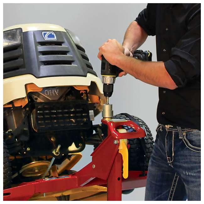 MJ45001-EZMAX-U-D MoJack Flat 450 lb Capacity Riding Lawn Tractor Mower Lift Jack, EZMAX (Damaged) 4