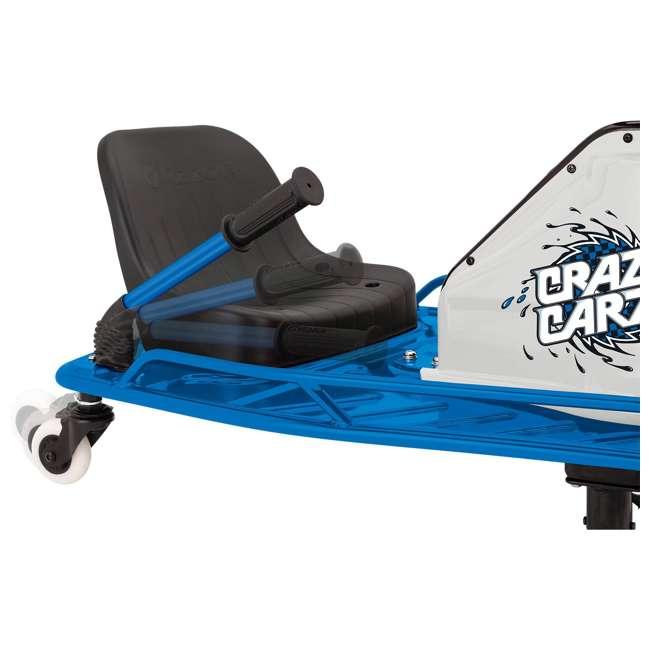 25143442 + 20143460 Razor High Torque Motorized Drifting Crazy Cart w/ Drift Bar, Blue/Red (2 Pack) 4