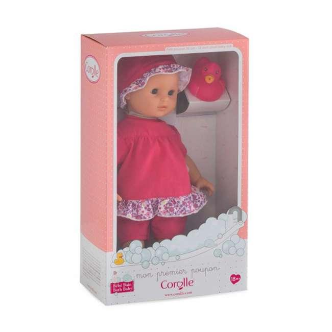 100130 + FRN90 Corolle Mon Premier Baby Bath Waterproof Coralie Doll with Duck & Toy Stroller 5