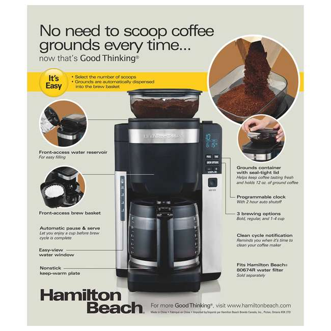 45400 + 52400 Hamilton Beach 12 Cup Coffee Maker w/ Smoothie Mixer 7