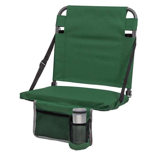 1-1-58811-DS + SL92-T-BK Eastpoint Sports Stadium Seat & Chantal 15 Oz Travel Mug, Green