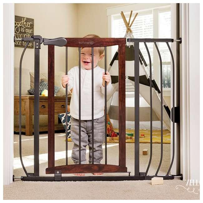 "27500A Summer Infant Anywhere Decorative Walk Thru Adjustable 42.5"" Baby Safety Gate 4"